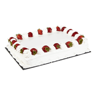1/2 Slab Strawberry Short Cake