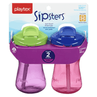 Lil' Gripper Twist 'n Click Cups with Straws, 12+ Months