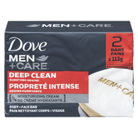 Men+Care Body & Face Bar, Deep Clean