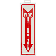 Fire Extinguisher Sign, 8 x 12 in