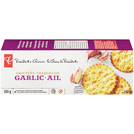 Scalloped Edge Crackers, Garlic