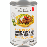Haricots pinto frits mi-piquants