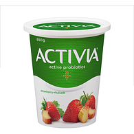 Strawberry-Rhubarb 2.9% M.F. Probiotic Yogurt,650g