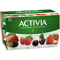Raspberry/Apple-Blackberry/Strawberry-Rhubarb/Cherry 2.9% M.F. Probiotic Yogurt,12x100g