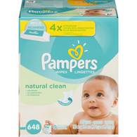 Natural Clean Baby Wipes, 9x