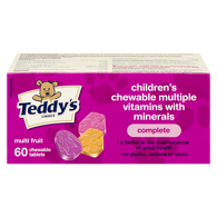 Kids Chewable Multi-Vitamins with Iron