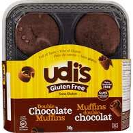 Gluten Free Muffins, Double Chocolate