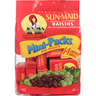 Raisins, Mini Packs