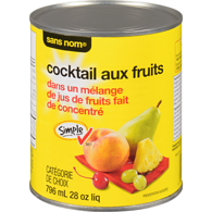 Cocktail de fruits dans le jus