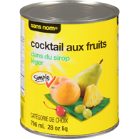 Cocktail de fruits dans un sirop léger