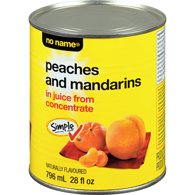 Mandarin & Peach, in Juice