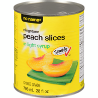 Clingstone Peach Slices in Light Syrup