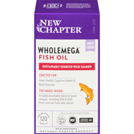 New Chapter Wholemega Whole Fish Oil Capsules