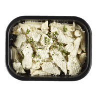 Chicken with Penne and Alfredo Sauce