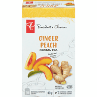 Ginger Peach Herbal Tea
