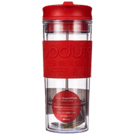 Mug à piston de voyage 450 ml (15 oz) rouge