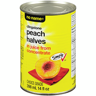 Clingstone Peach Halves in Juice From Concentrate