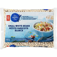 Blue Menu Small White Beans