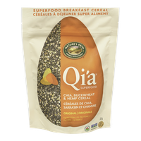 Qi'a Superfood, Chia, Buckwheat & Hemp Cereal Original Flavour