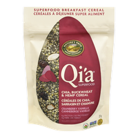 Qi'a Superfood Chia, Buckwheat & Hemp Cereal Cranberry Vanilla