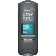Men+Care Body and Face Wash, Aqua Impact