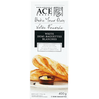 Bake Your Own White Demi-Baguettes
