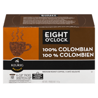 Café 100 % colombien de torréfaction moyenne Eight O'Clock