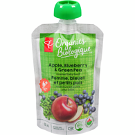 Apple, Blueberry & Green Pea Strained Baby Food