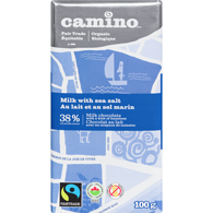 Organic Milk Chocolate Bar, Sea Salt 38%
