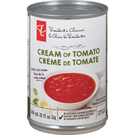 Cream of Tomato Soup with Parmesan & Basil