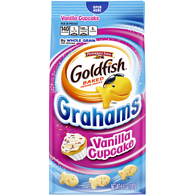 Goldfish Crackers Grahams, Vanilla Cupcake