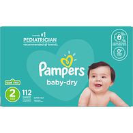 Baby Dry, Super Pack Size 2 Diapers