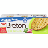 Gluten Free Crackers, Herb & Garlic