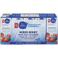 Mixed Berry Fruit Juice Beverage