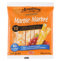 Collations au fromage naturel, cheddar marbré