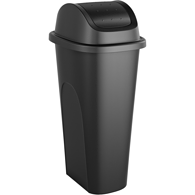 Slim Swing Bin, 42L Black
