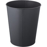 Textured Wastebasket, 10L Grey