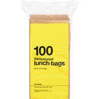 Flat Bottom Lunch Bags