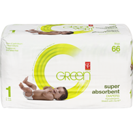 Super Absorbent Diapers, Size 1 Diapers