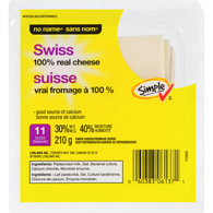 Tranches de fromage suisse