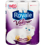 Velour Bathroom Tissue, Double Rolls