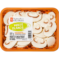 White Mushrooms, Sliced