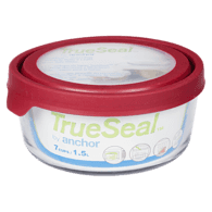 Rectangle TrueSeal Food Storage with Cherry Lid, 7 Cup