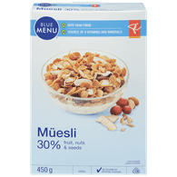 Blue Menu Muesli, 30% Fruit Nuts & Seeds