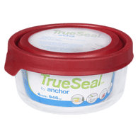 TrueSeal Round Food Storage with Cherry Lid, 4 Cup
