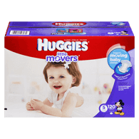Little Movers, Mega Colossal Pack Size 5 Diapers
