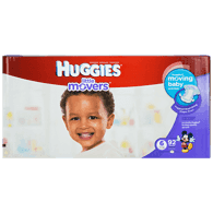 Little Movers, Mega Colossal Pack Size 6 Diapers (Case)