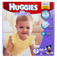 Little Movers, Mega Colossal Pack Size 3 Diapers