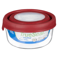 TrueSeal Food Storage with Cherry Lid, 2 Cup