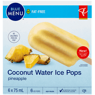 Blue Menu Coconut Water Ice Pops, Pineapple